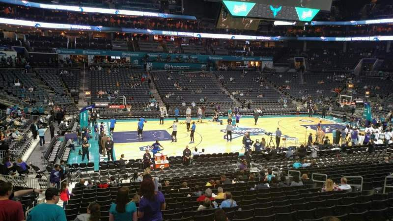 Seating view for Spectrum Center Section 106 Row S Seat 17