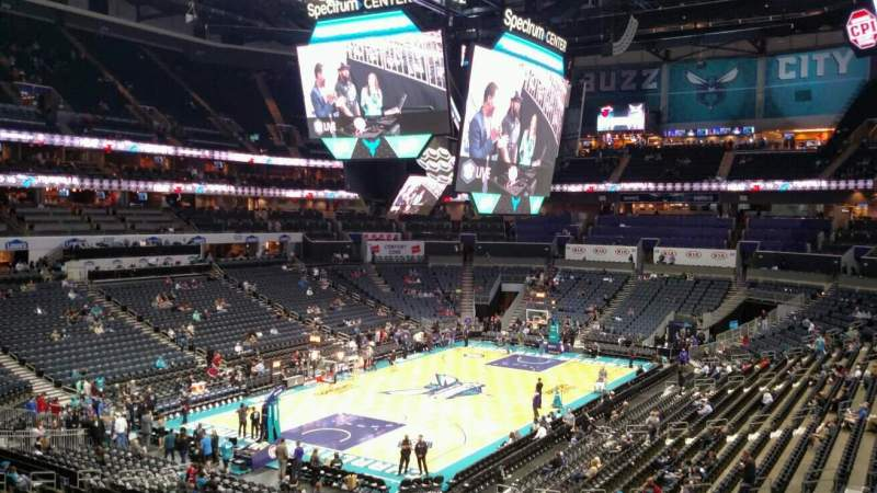 Seating view for Spectrum Center Section 116 Row EE Seat 34