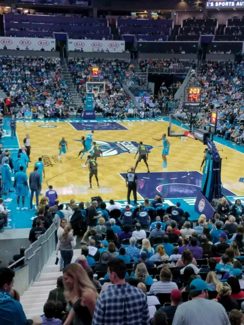Seating view for Spectrum Center Section 101 Row R Seat 12