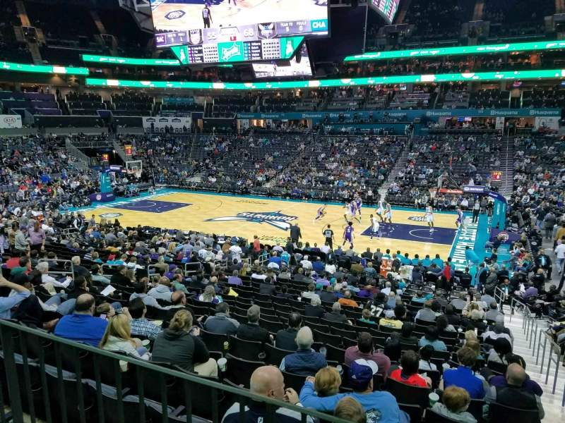Seating view for Spectrum Center Section 104 Row S Seat 1