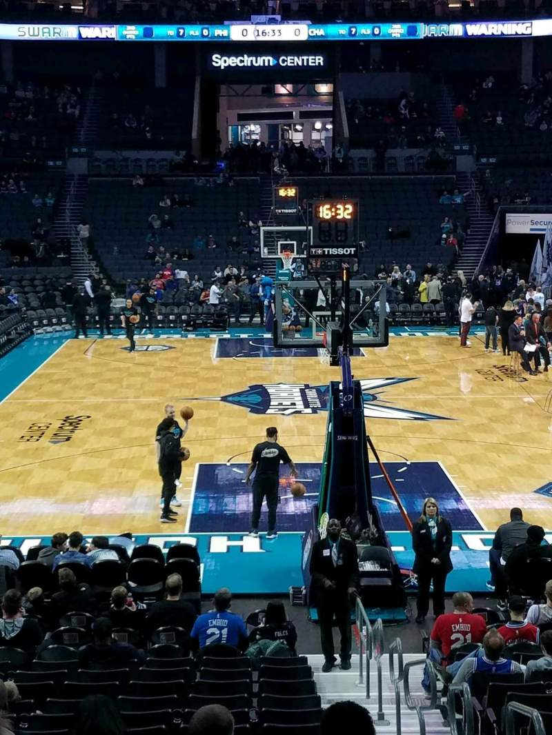 Seating view for Spectrum Center Section 110 Row Q Seat 2