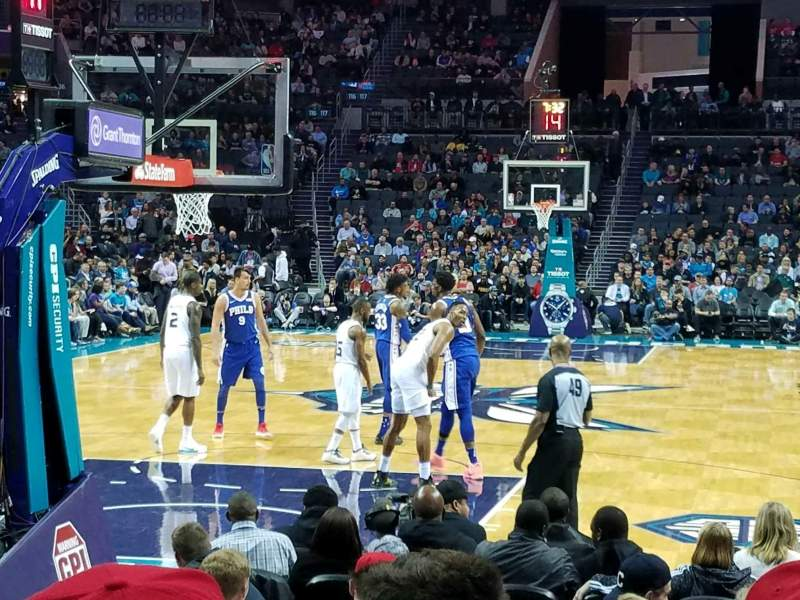 Seating view for Spectrum Center Section 109 Row G Seat 6
