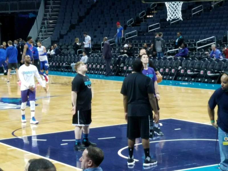 Seating view for Spectrum Center Section 117 Row C Seat 13