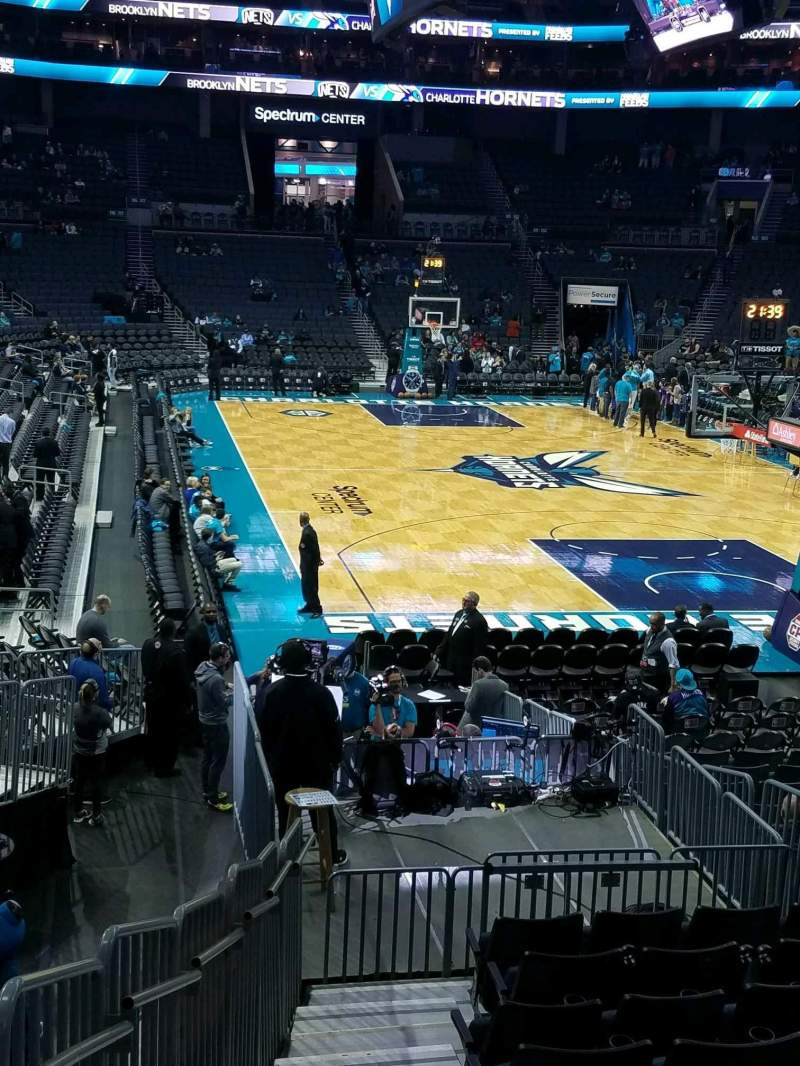 Seating view for Spectrum Center Section 111 Row Q Seat 1