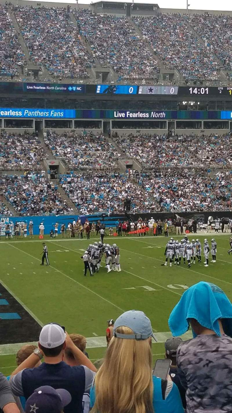 Seating view for Bank of America Stadium Section 116 Row 18 Seat 14