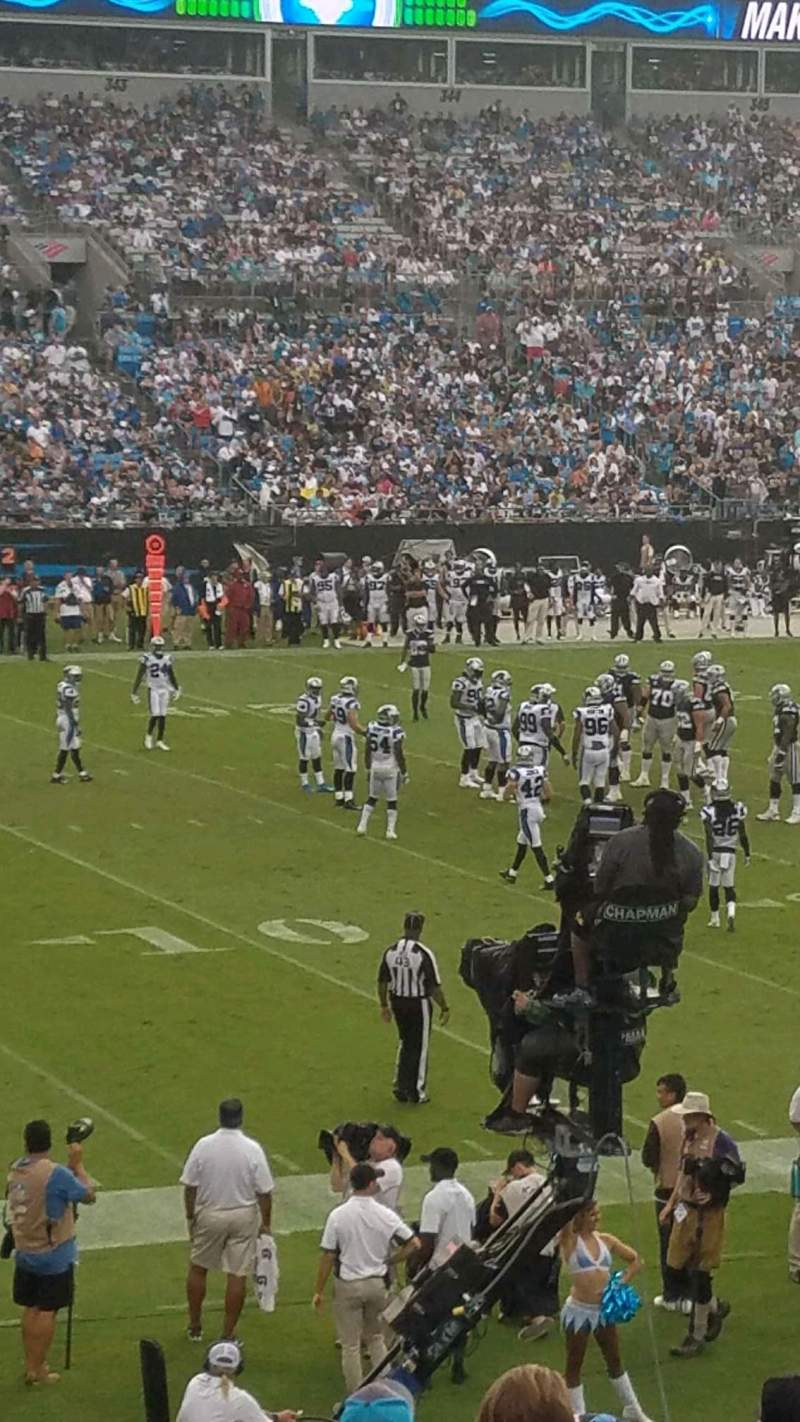 Seating view for Bank of America Stadium Section 116 Row 18 Seat 13