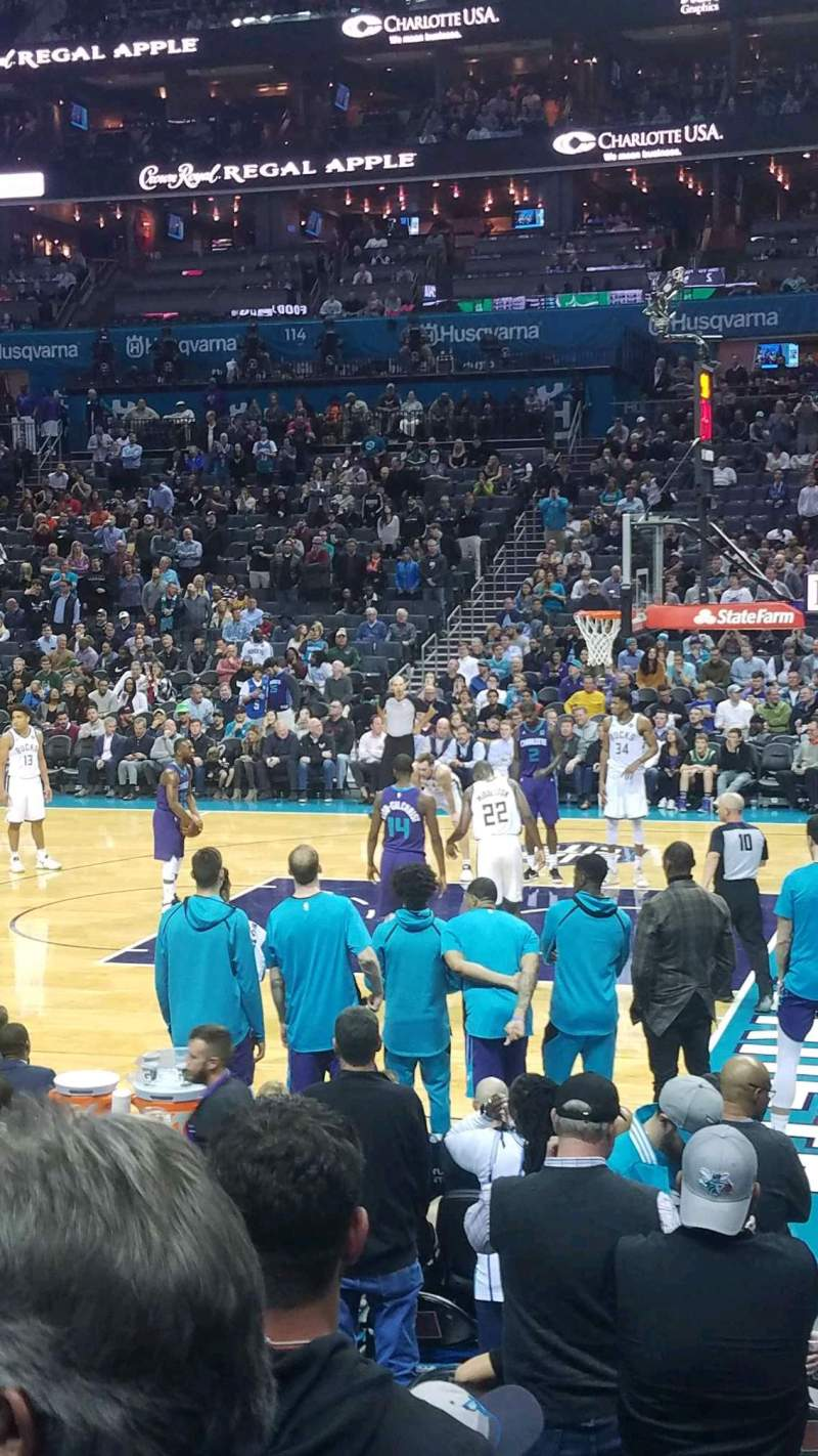 Seating view for Spectrum Center Section 104 Row I Seat 1