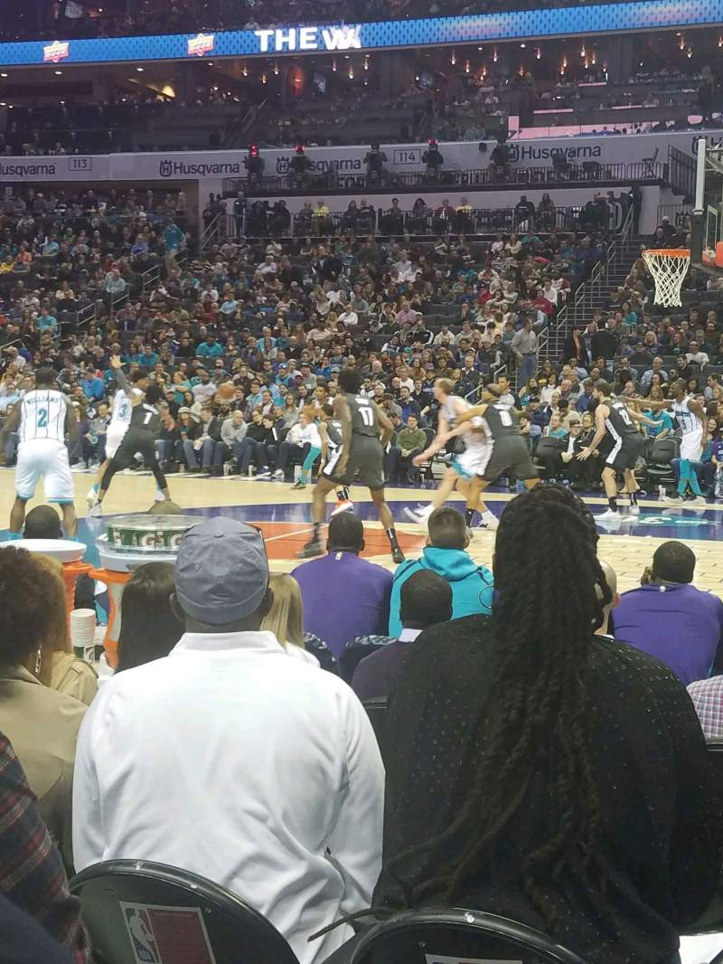 Seating view for Spectrum Center Section 104 Row C Seat 4