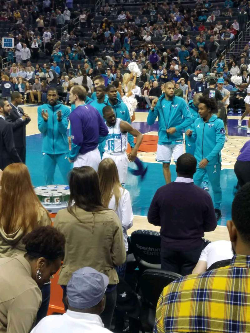 Seating view for Spectrum Center Section 104 Row C Seat 3