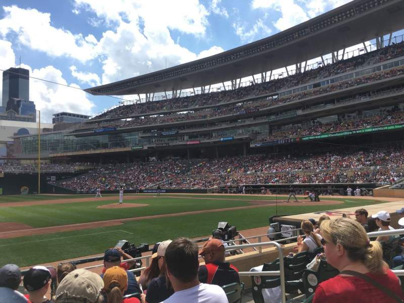 Seating view for Target Field Section 14 Row 9 Seat 5
