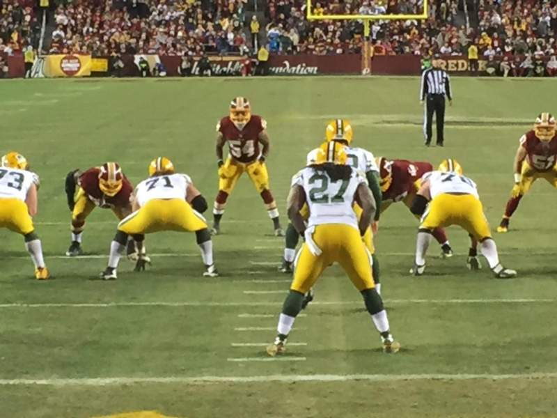 Seating view for FedEx Field Section 132 Row 1 Seat 18