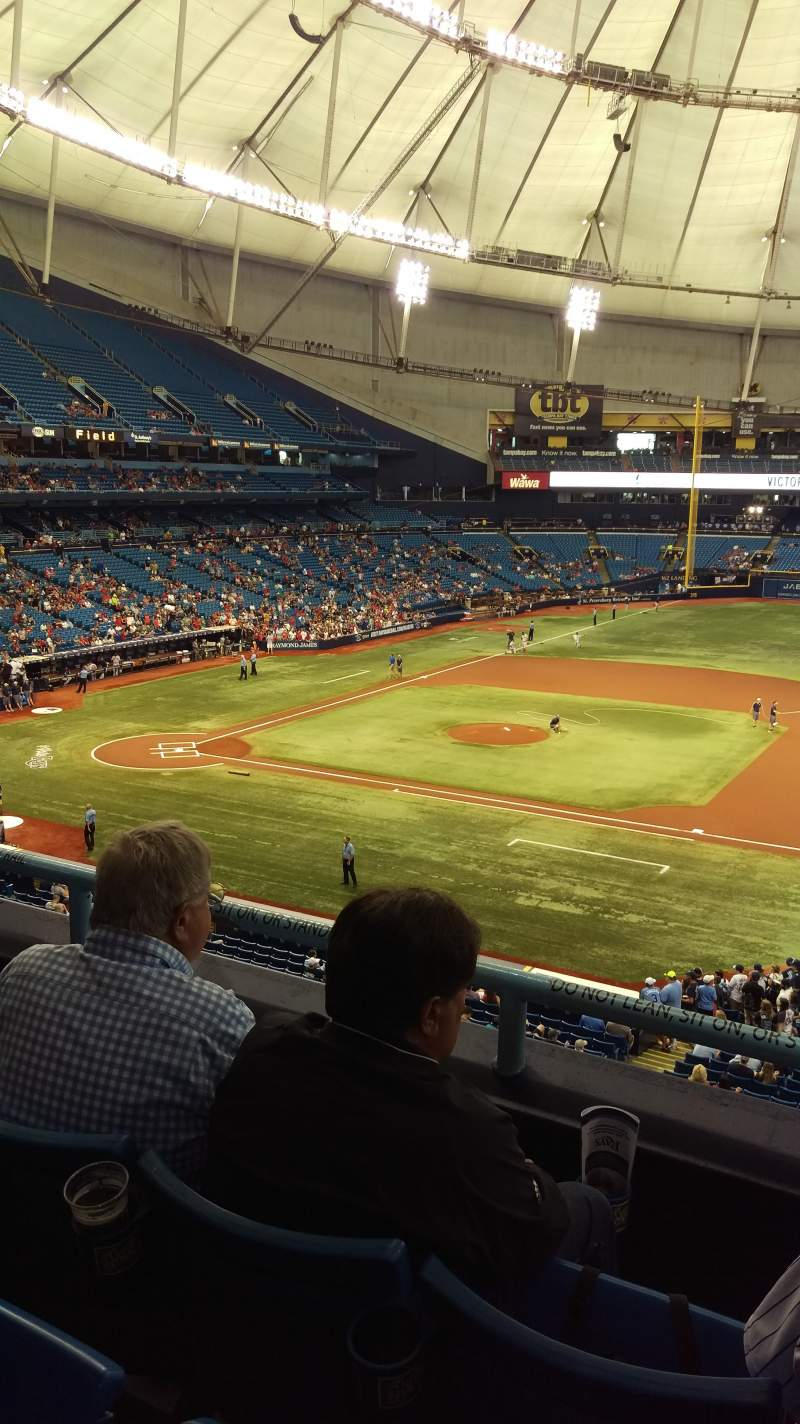 Seating view for Tropicana Field Section 214 Row C Seat 8