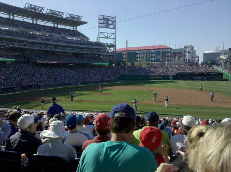 Seating view for Nationals Park Section 130 Row FF Seat 12