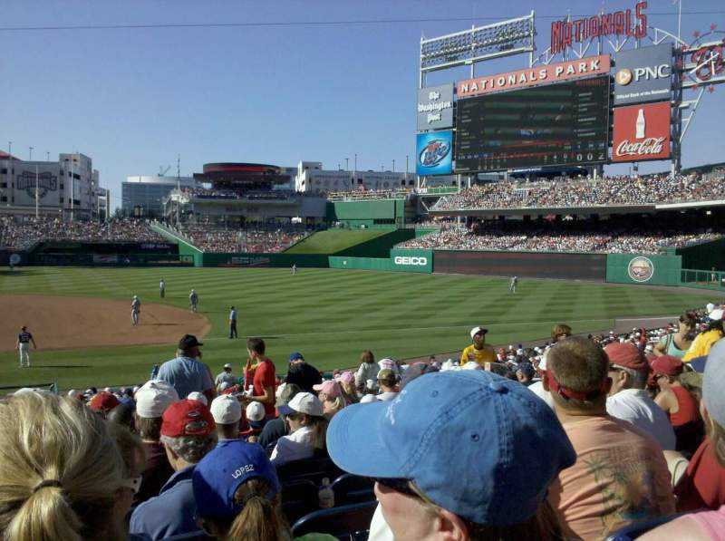 Seating view for Nationals Park Section 130 Row FF Seat 11
