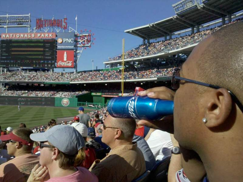 Seating view for Nationals Park Section 130U Row FF Seat 12