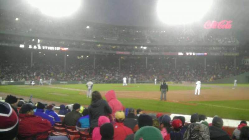 Seating view for Fenway Park Section Field Box 12 Row h Seat 3