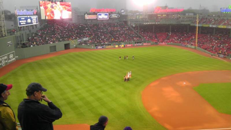 Seating view for Fenway Park Section PB Row A Seat 5
