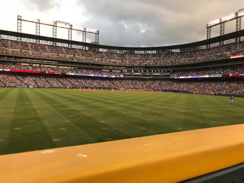 Seating view for Coors Field Section 155 Row W Seat 22