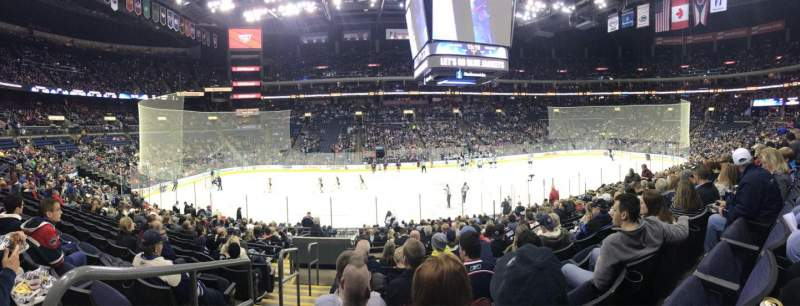 Seating view for Nationwide Arena Section 115 Row U Seat 19