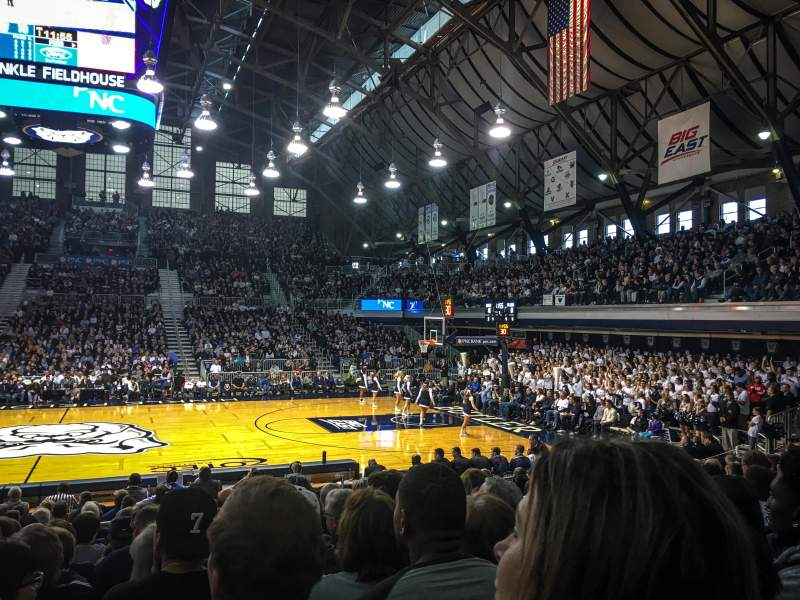 Seating view for Hinkle Fieldhouse Section 106 Row 14 Seat 5
