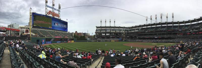 Seating view for Progressive Field Section 170 Row U Seat 10