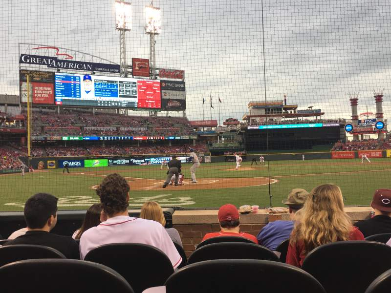 Seating view for Great American Ball Park Section 4 Row E Seat 5