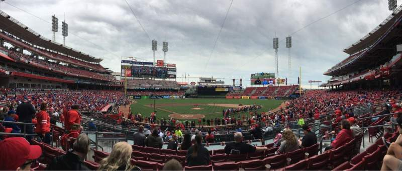 Seating view for Great American Ball Park Section 125 Row G Seat 8