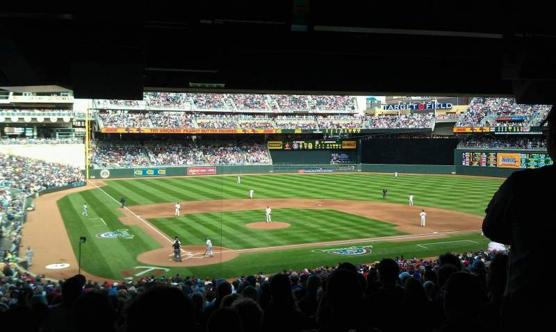 Seating view for Target Field Section 112