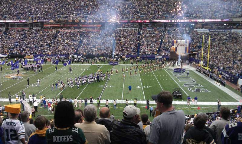 Seating view for Mall of America Field Section 131