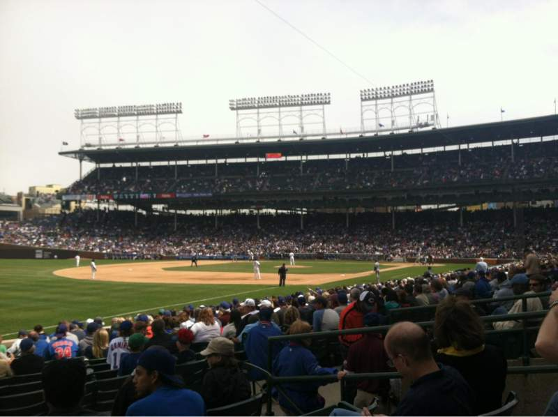 Seating view for Wrigley Field Section 106