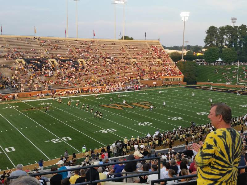 BB&T Field, section: 2, row: JJ, seat: 1