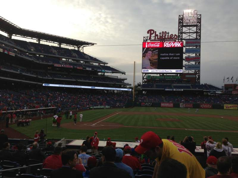 Seating view for Citizens Bank Park Section 118 Row 16 Seat 4