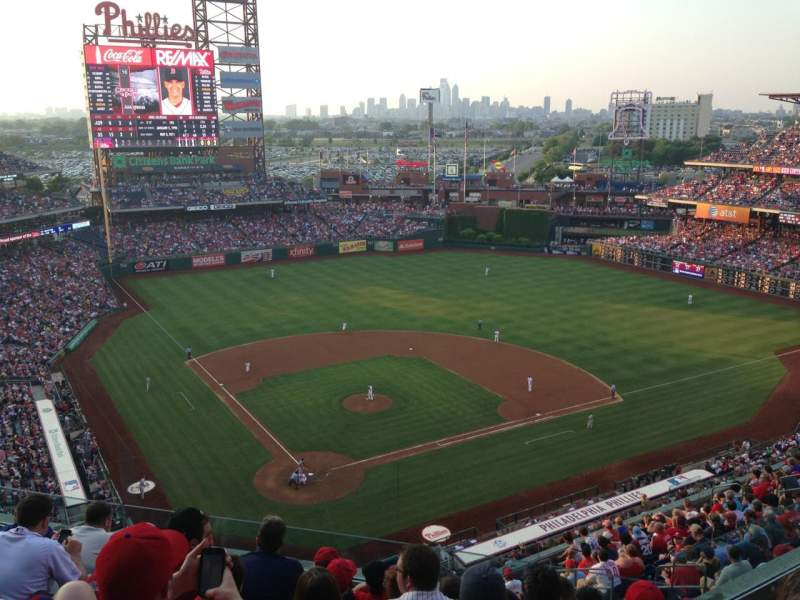 Seating view for Citizens Bank Park Section 419 Row 7 Seat 7