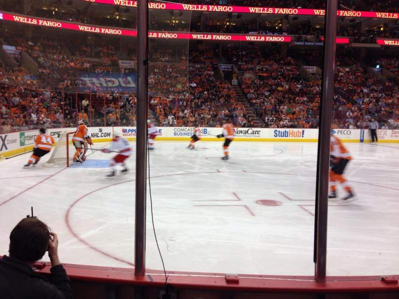 Seating view for Wells Fargo Center Section 123 Row 3 Seat 1