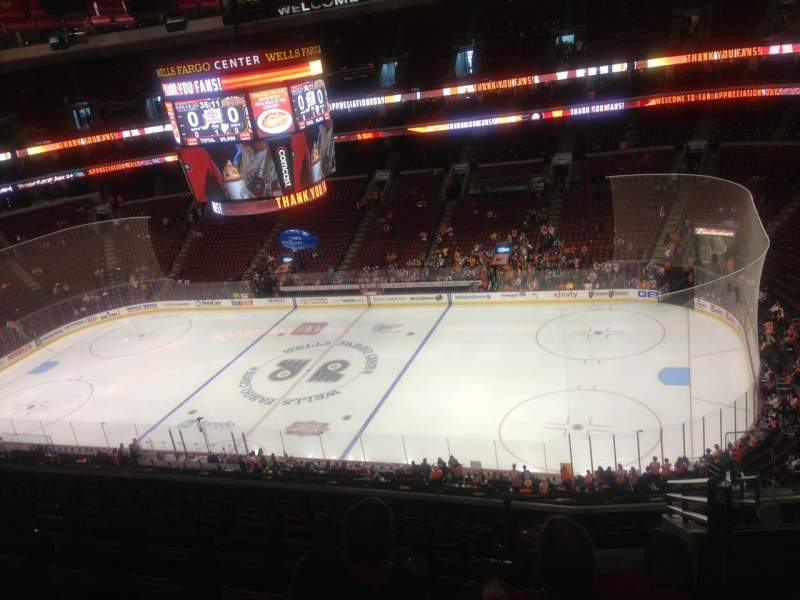 Seating view for Wells Fargo Center Section 214 Row 11 Seat 23