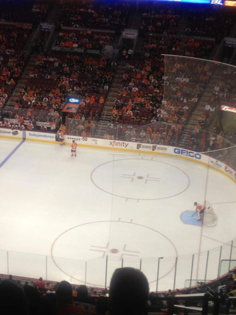 Seating view for Wells Fargo Center Section 215 Row 11 Seat 23