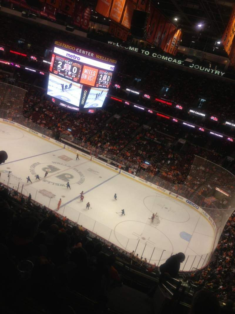 Seating view for Wells Fargo Center Section 215 Row 11 Seat 22