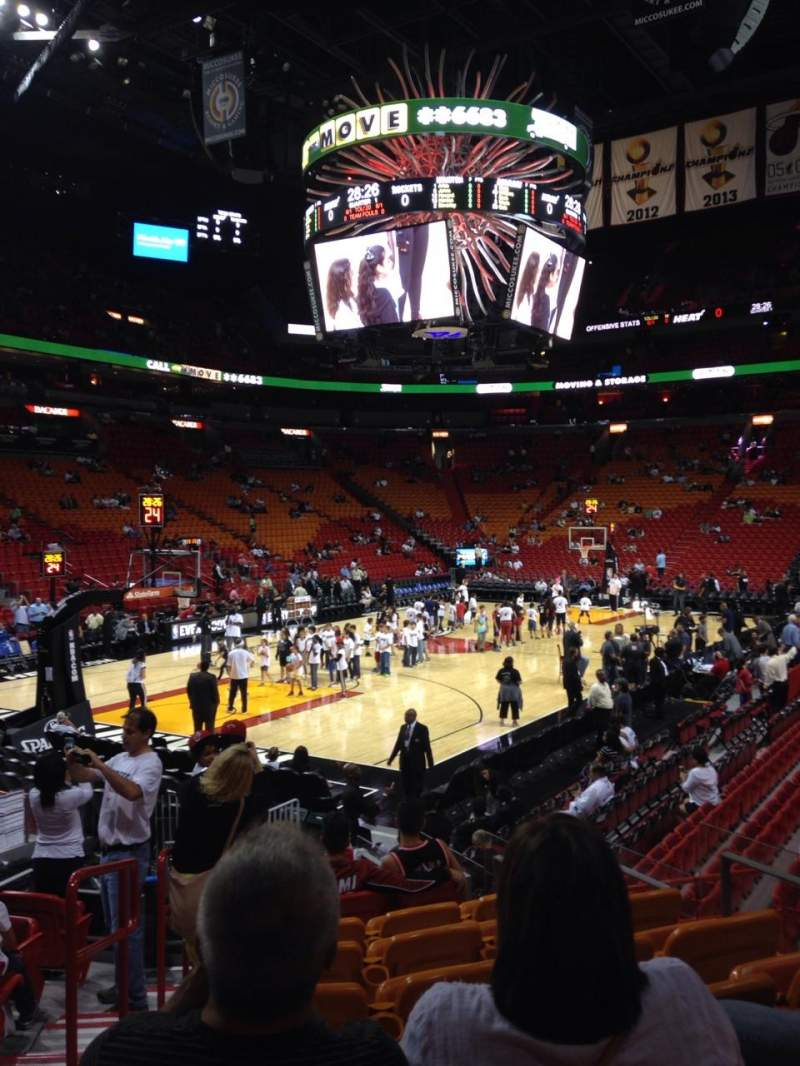 Seating view for American Airlines Arena Section 122 Row 17 Seat 8