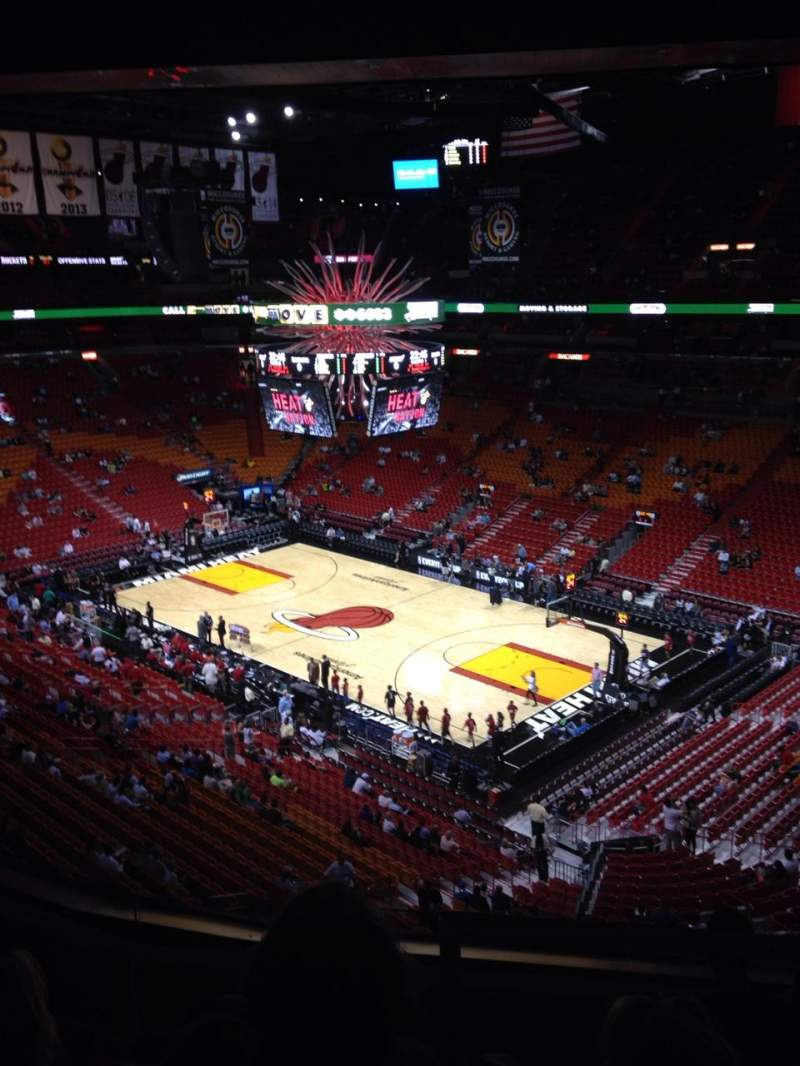 Seating view for American Airlines Arena Section 305 Row 5 Seat 1