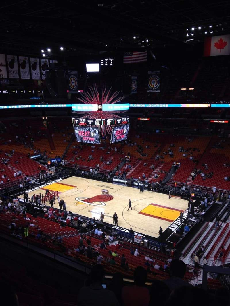 Seating view for American Airlines Arena Section 306 Row 5 Seat 1