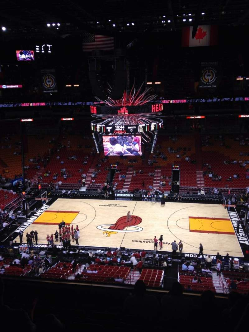 Seating view for American Airlines Arena Section 308 Row 7 Seat 4