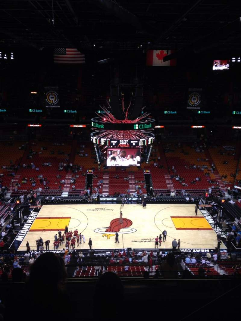 American Airlines Arena Section 309 Row 11 Seat 3