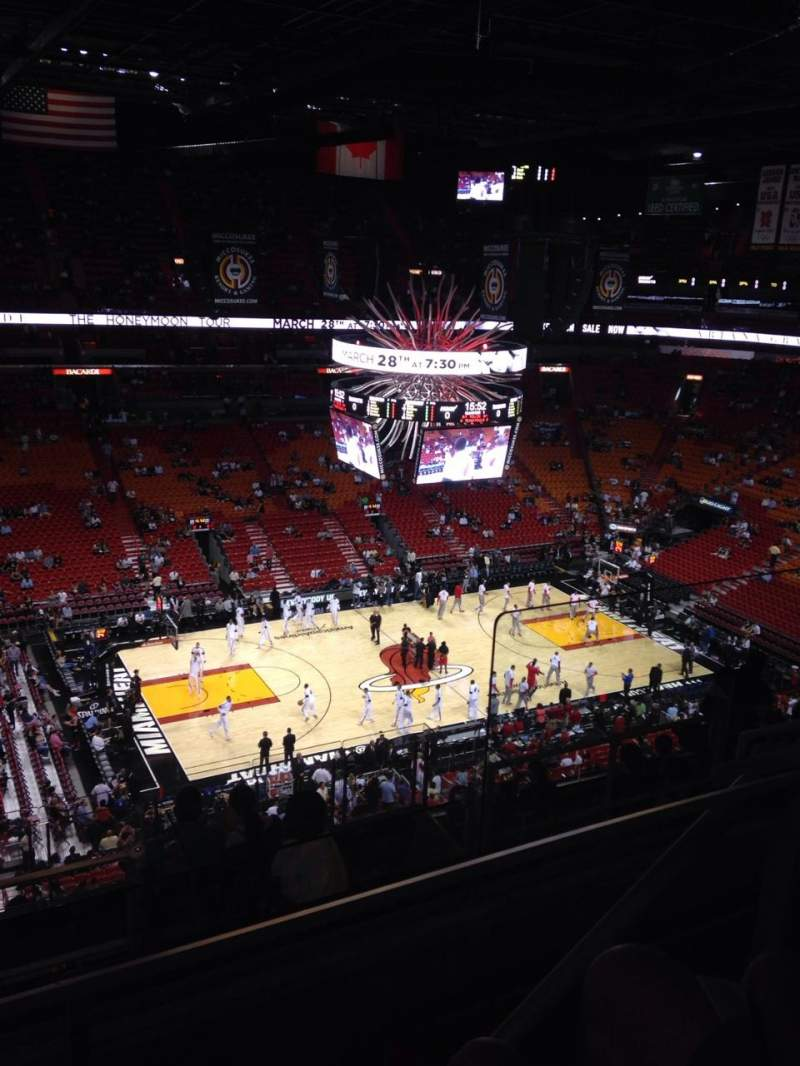 Seating view for American Airlines Arena Section 312 Row 10 Seat 3