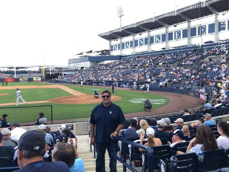 Seating view for George M. Steinbrenner Field Section 115 Row II Seat 1