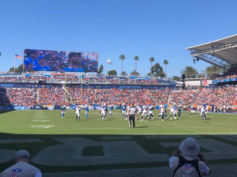 Seating view for Dignity Health Sports Park Section 102 Row B Seat 7