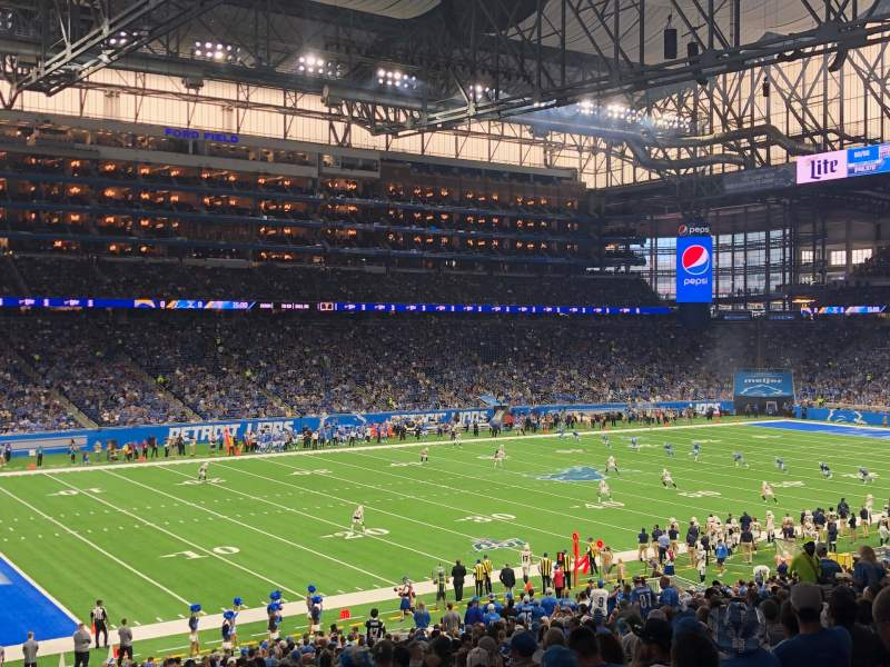 Seating view for Ford Field Section 122 Row 38 Seat 22
