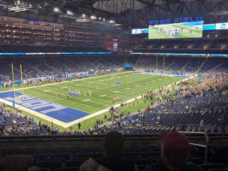 Seating view for Ford Field Section 223 Row 8 Seat 20