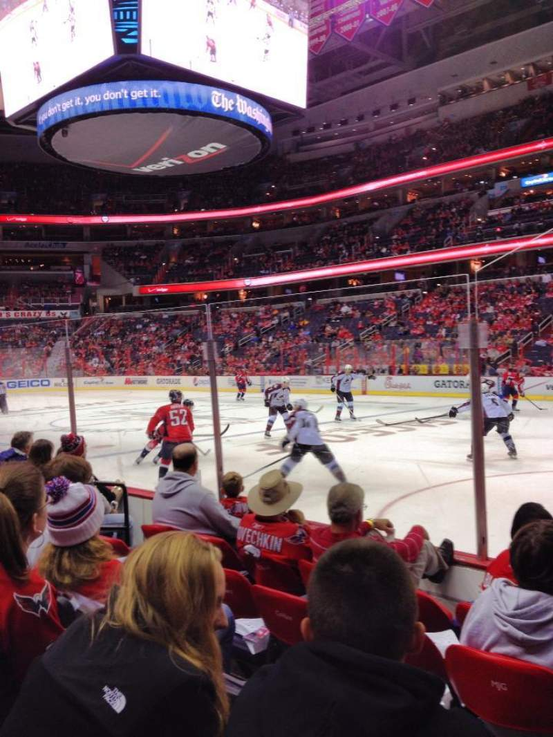 Seating view for Capital One Arena Section 102 Row E Seat 8-9