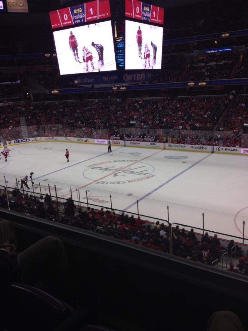 Seating view for Verizon Center Section 217 Row B Seat 12-13