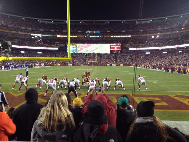 Seating view for FedEx Field Section 111 Row 2